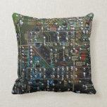 Circuit Board Throw Pillows