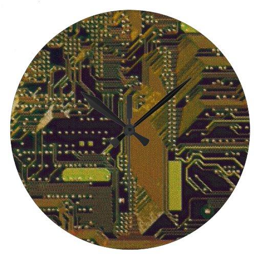 CIrcuit Board Wall Clocks
