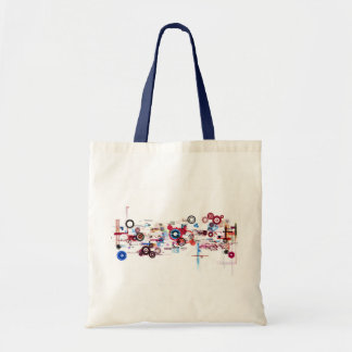 Circuit Board - White Canvas Bags