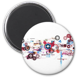 Circuit Board - White Magnet