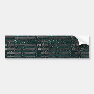 Circuit board wiring car bumper sticker