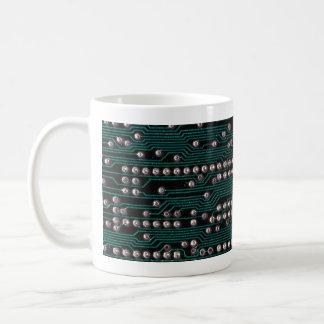 Circuit board wiring coffee mugs
