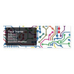 Circuit card 2 Double-Sided mini business cards (Pack of 20)
