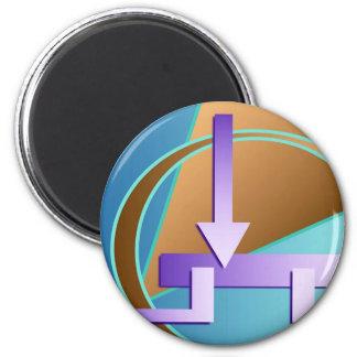 """""""Circuit Diagram"""" digital art print Magnet"""