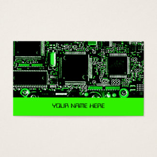 Circuit Green 2 business card template green
