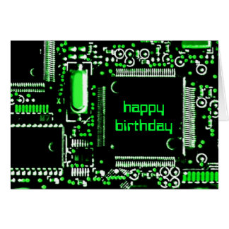 Circuit Green 2 'Happy Birthday' greetings card