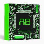 Circuit Green 2 'Initials' binder green
