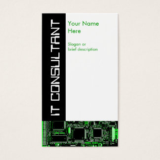 Circuit Green 2 'IT Consultant' business card