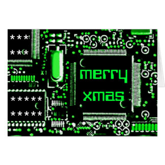 Circuit Green 2 'Merry Xmas' greetings card