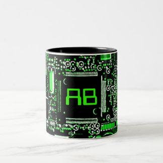 Circuit Green 2 monogram mug