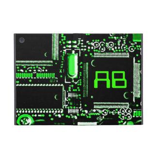 Circuit Green 2 monogram Powis iPad Mini case
