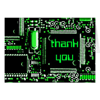 Circuit Green 2 'Thank You' greetings card