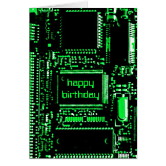 Circuit Green 'Happy Birthday' card