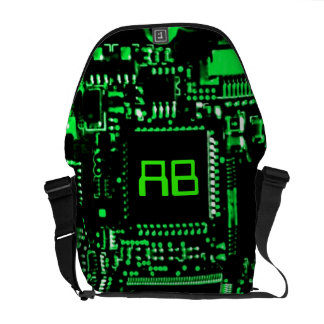 Circuit Green monogram medium zero messenger bag