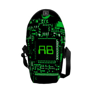 Circuit Green monogram mini zero messenger bag
