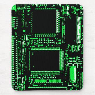 Circuit Green mouspad portrait Mouse Pad