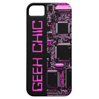 Circuit Pink 'Geek Chic' iPhone 5 case black