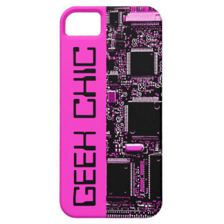 Circuit Pink 'Geek Chic' iPhone 5 case pink