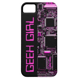 "Circuit Pink ""Geek Girl"" iPhone 5 case black"
