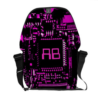 Circuit Pink monogram medium zero messenger bag