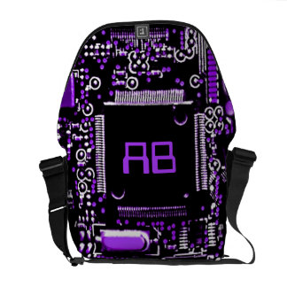 Circuit Purple 2 monogram medium messenger bag
