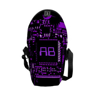 Circuit Purple monogram mini zero messenger bag