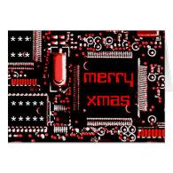Circuit Red 2 'Merry Xmas' greetings card