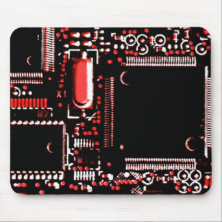 Circuit Red 2 mouspad Mouse Pad