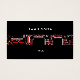 Circuit Red 2 stripe business card black back