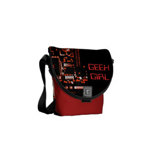 Circuit Red Geek Girl mini zero messenger bag red