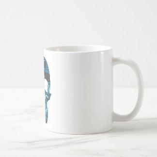 Circuit Skull Basic White Mug