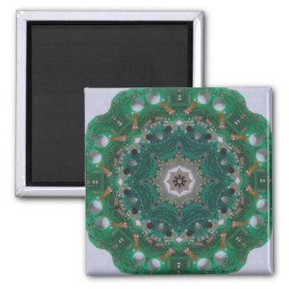 Circuitboard Mandala Magnet