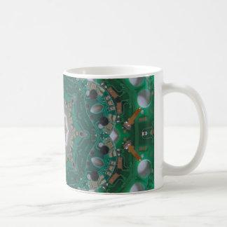 Circuitboard Mandala Mug