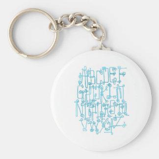 Circuitboard Original Alphabet Keychain