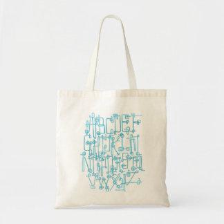 Circuitboard Original Alphabet Tote Bag