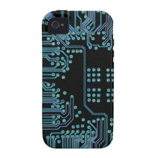 Circuito azul iPhone 4 funda