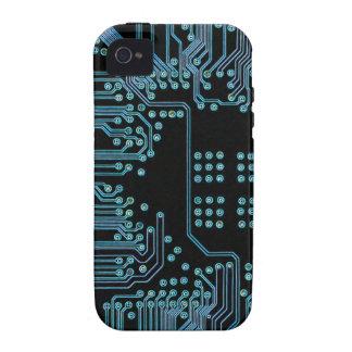 Circuito azul iPhone 4 carcasa