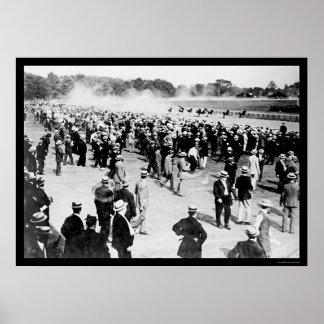 Circuito de carreras 1913 del caballo de Saratoga Impresiones