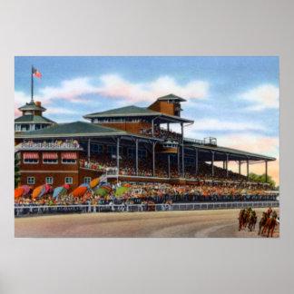 Circuito de carreras del parque de Wilmington Dela Póster