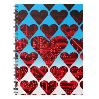 circuito del amor, rojo libro de apuntes