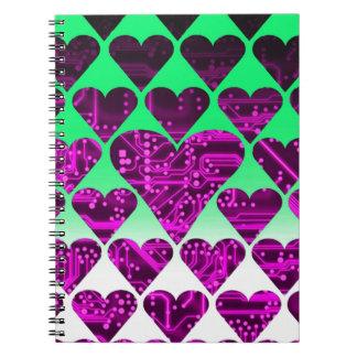 circuito del amor, violeta libreta espiral