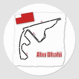 Circuito del GP de Abu Dhabi Etiqueta Redonda