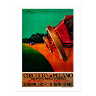 Circuito Di Milano Vintage PosterEurope Postcard