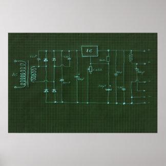 circuito electrónico del esquema posters