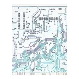 circuito electrónico plantillas de membrete