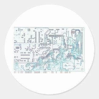 circuito electrónico etiqueta