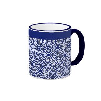 Circuito extranjero exterminado - azul marino taza de dos colores