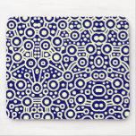 Circuito extranjero II - crema en azul marino Alfombrillas De Ratones