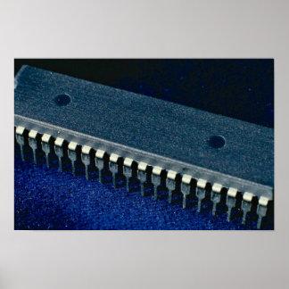 Circuito integrado microprocesador posters