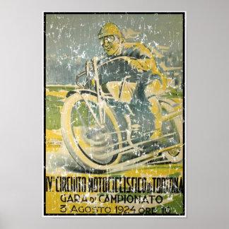 Circuito Motociclistico-1924 - apenado Póster